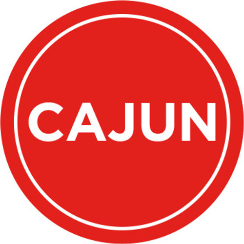 New! One Inch CircleCajun Icon Label which comes 1000 per roll. Use on all your Cajun meal packaging.