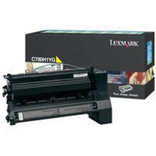 Genuine Lexmark C780H1YG Yellow High Yield Toner Cartridge for C780, C782, X780, X782 [10,000 Pages]