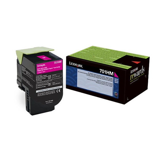 Genuine Lexmark 701HM Magenta High Yield Toner Cartridge for CS310, CS410, CS510 [3,000 Pages]