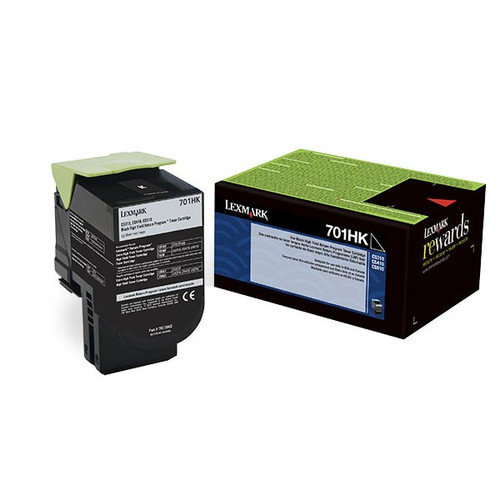 Genuine Lexmark 701HK Black High Yield Toner Cartridge for CS310, CS410, CS510 [4,000 Pages]