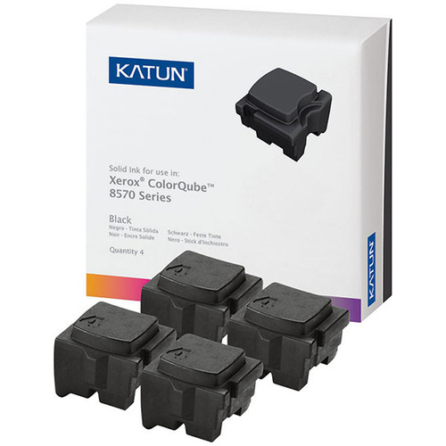 Xerox 108R00930 Black Compatible Solid Ink Cartridge 4-Pack for ColorCube 8570, 8580 [8,600 pages]