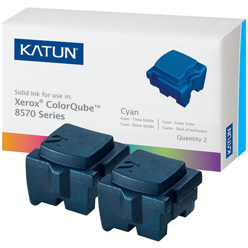 Xerox 108R00926 Cyan Compatible Solid Ink Cartridge 2-Pack for ColorCube 8570, 8580 [4,400 pages]