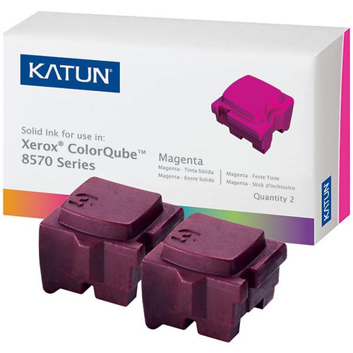 Xerox 108R00927 Magenta Compatible Solid Ink Cartridge 2-Pack for ColorCube 8570, 8580 [4,400 pages]