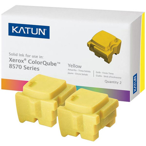 Xerox 108R00928 Yellow Compatible Solid Ink Cartridge 2-Pack for ColorCube 8570, 8580 [4,400 pages]