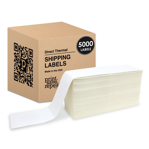 "4"" x 6"" Premium Direct Thermal Fanfold Labels 