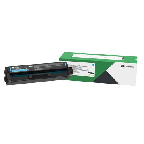 OEM Lexmark C3210C0 Cyan Standard Yield Toner Cartridge for C3224, C3326, MC3224, MC3326 [1,500 Pages]
