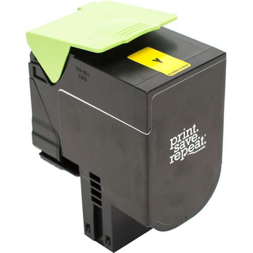 Print.Save.Repeat. Lexmark 701HY Yellow High Yield Remanufactured Toner Catridge for CS310, CS410, CS510 [3,000 Pages]
