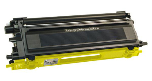 Brother TN110Y Yellow Remanufactured Toner Cartridge [1,500 Pages]