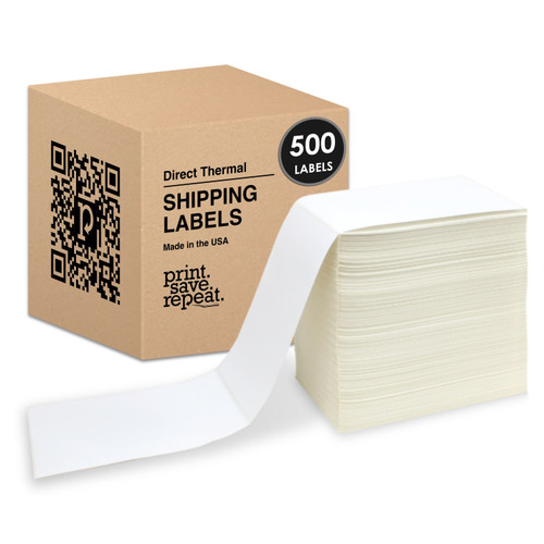 "4"" x 6"" Direct Thermal Fanfold Labels 