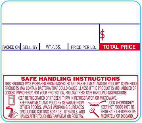"""58mm x 50mm Labels for CAS Scales with SHI (8030) 