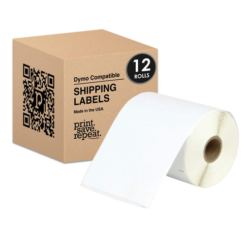 4x6 Direct Thermal Shipping Labels for Dymo LabelWriter 4XL | 2,640 Labels | 12 Rolls of 220