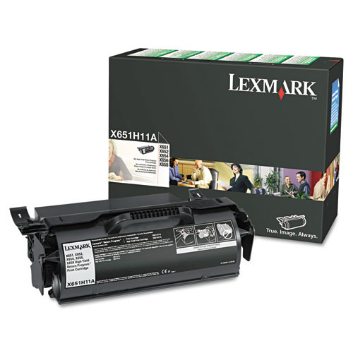 Genuine Lexmark X651H11A High Yield Toner Cartridge for X651, X652, X654, X656, X658 [25,000 Pages]