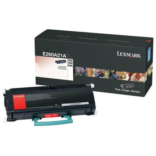 Genuine Lexmark E260A21A Toner Cartridge for E260, E360, E460 [3,500 pages]