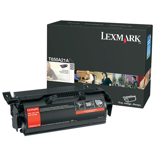 Genuine Lexmark T650A21A Toner Cartridge for T650, T652, T654, T656 [7,000 pages]