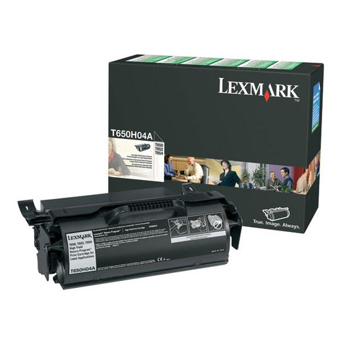 Genuine Lexmark T650H04A High Yield Label Applications Toner Cartridge for T650, T652, T654, T656 [25,000 pages]
