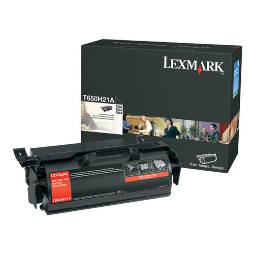 Genuine Lexmark T650H21A High Yield Toner Cartridge for T650, T652, T654, T656 [25,000 pages]