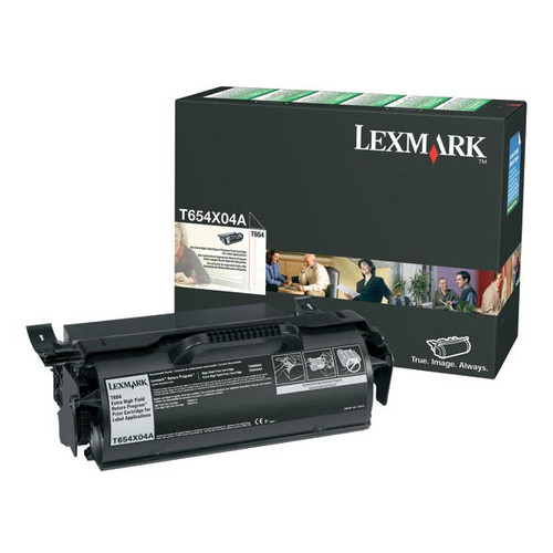 Genuine Lexmark T654X04A Extra High Yield Label Applications Toner Cartridge for T654, T656 [36,000 pages]