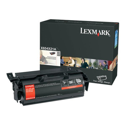 Genuine Lexmark X654X21A Extra High Yield Toner Cartridge for X654, X656, X658 [36,000 pages]