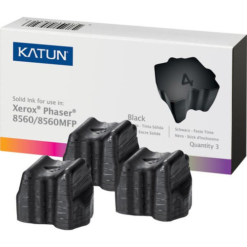Xerox 108R00726 Black Compatible Solid Ink Cartridge 3-Pack for Phaser 8560 [3,400 pages]