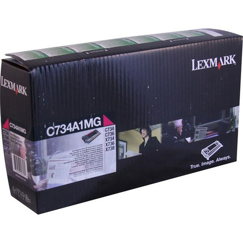 Genuine Lexmark C734A1MG Magenta Toner Cartridge for C734, C736, X734, X736, X738 [6,000 Pages]