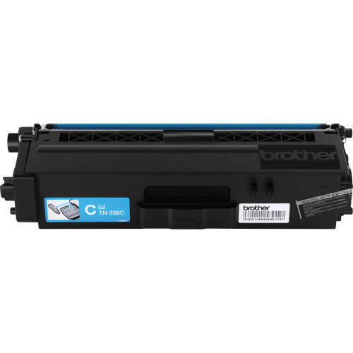 Genuine Brother TN-336C Cyan High Yield Toner Cartridge for DCP-L8400, DCP-L8450, HL-L8250, HL-L8350, MFC-L8600, MFC-L8650, MFC-L8850 [3,500 Pages]