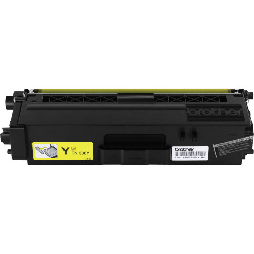 Genuine Brother TN-336Y Yellow High Yield Toner Cartridge for DCP-L8400, DCP-L8450, HL-L8250, HL-L8350, MFC-L8600, MFC-L8650, MFC-L8850 [3,500 Pages]