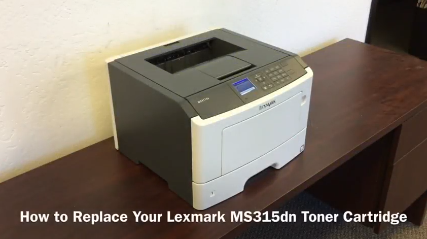 Lexmark MS315dn: How to Replace the Toner Cartridge - Print