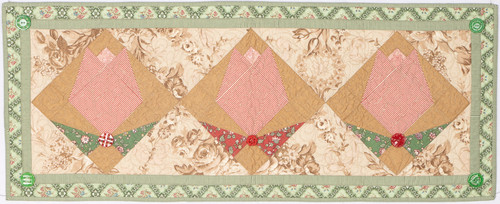"Forever Flowers quilt - 14"" x 36"""