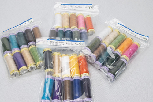 10 ASSORTED Mettler thread spools (T4)