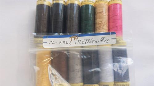 12 spools of METTLER 28wt cotton thread (#90)