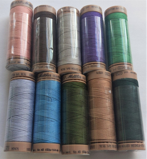 10 spools of METTLER 40wt cotton thread (#91)