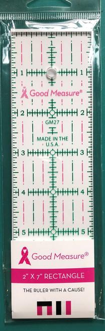 """Good Measure 2"""" x 7"""" Ruler"""