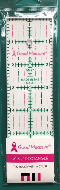 "Good Measure 2"" x 7"" Ruler"