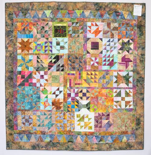 """Batik Scrap Mania quilt - 72"""" x 72"""""""
