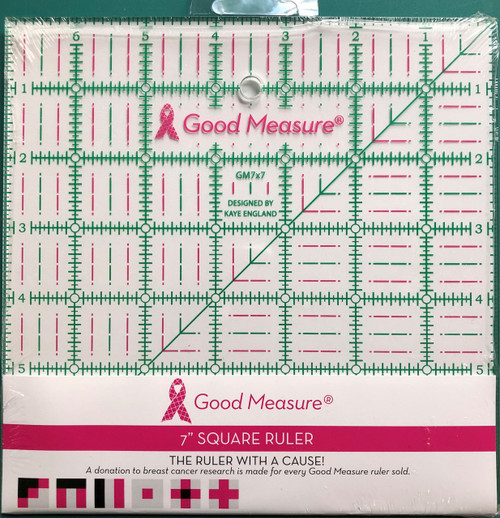 "Good Measure 7"" x 7"" Ruler"
