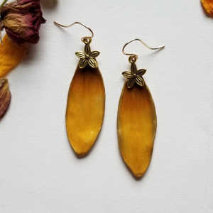 Black-Eyed Susan Earrings- 14K GF with Flower Charm