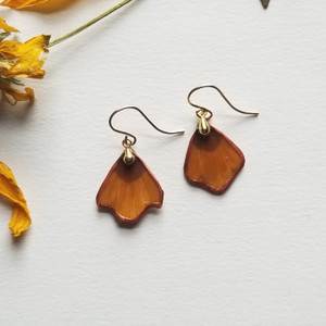Coreopsis Flower Petal Earrings- 14K GF