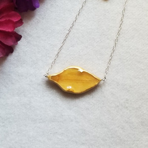 Daffodil Petal Necklace- Sterling Silver SunBar (SALE)