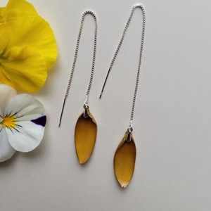 Black-Eyed Susan Ear Threads- Sterling Silver