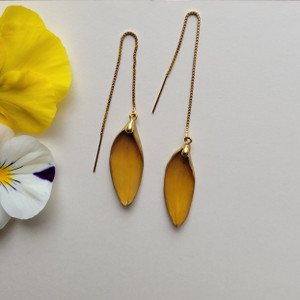 Black-Eyed Susan Ear Thread- 14K GF