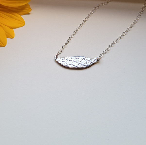 Sunflower Petal Choker Necklace- Slender Purple/Yellow with Sterling Silver