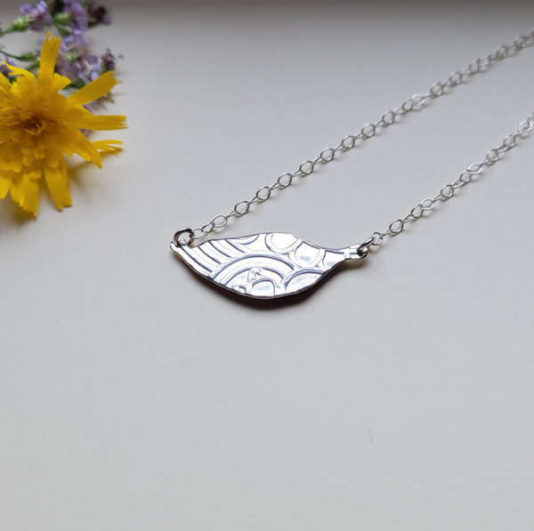 Sunflower Petal Choker Necklace- Purple/Yellow with Sterling Silver