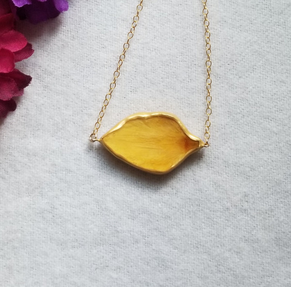 Daffodil Petal SunBar Necklace- 14K GF (SALE)