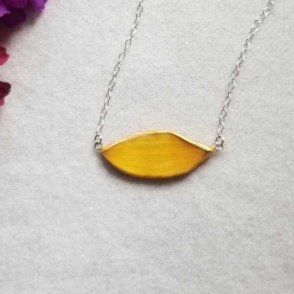 Sunflower Petal Choker Necklace- Sterling Silver (SALE)