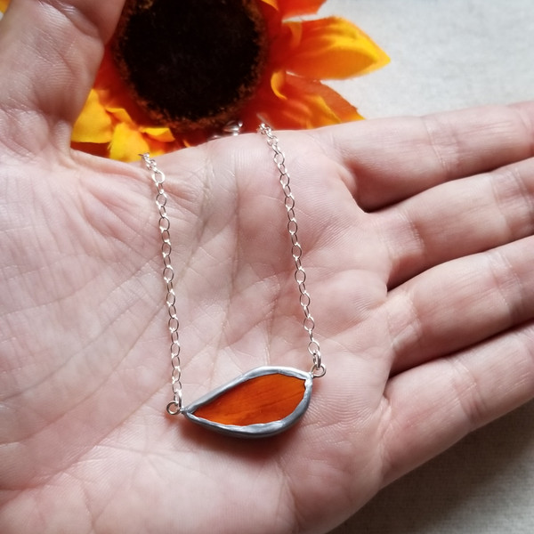 Cosmos Flower Petal Choker Necklace- Sterling Silver