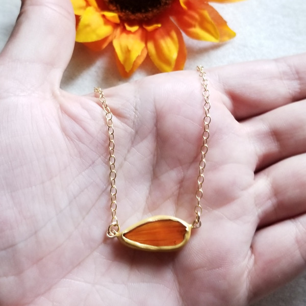 Cosmos Flower Petal Choker Necklace- 14K GF