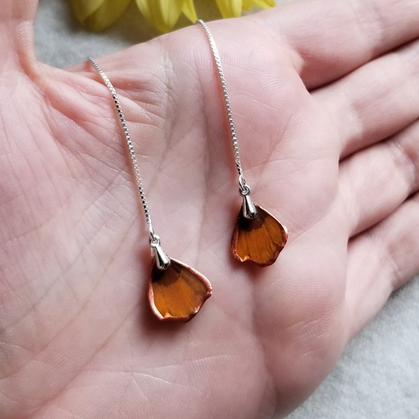 Coreopsis Ear Threads- Sterling Silver