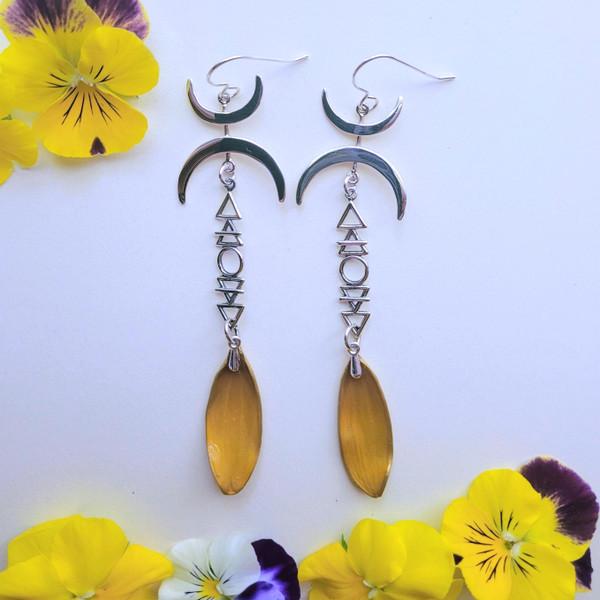 Black-Eyed Susan Elemental Moonlight Earrings- Sterling Silver