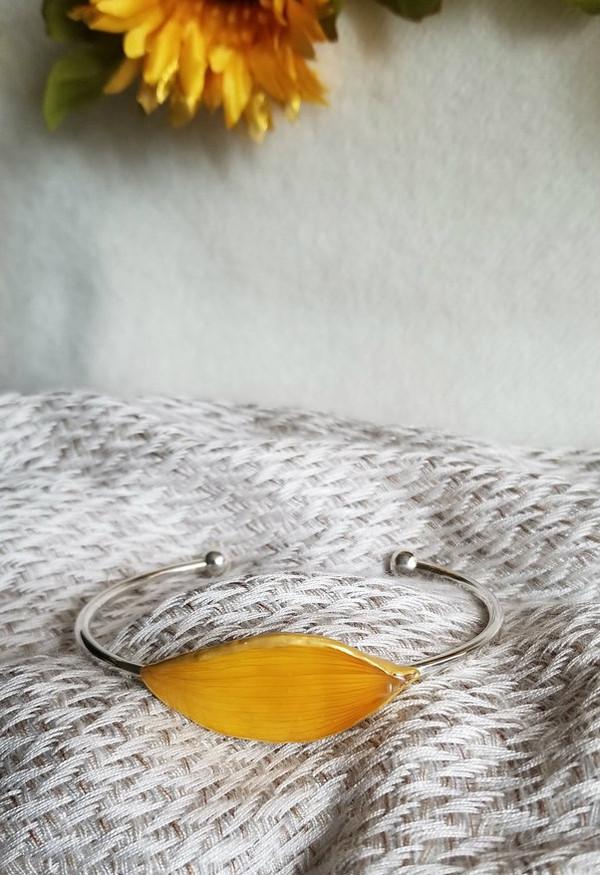 Sunflower Petal Bracelet- Sterling Silver