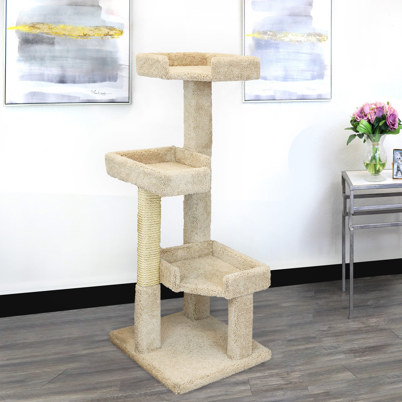 New Cat Condos 51 Solid Wood Large Cat Tree